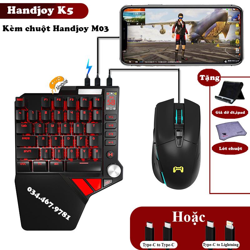 Máy chơi game handjoy k5 chơi pubg mobile