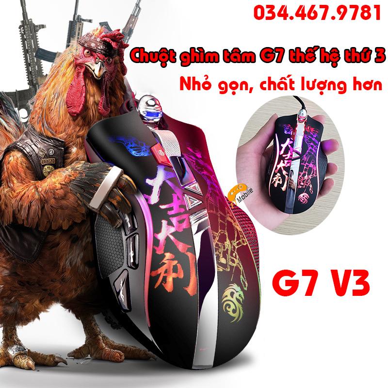 Chuột chơi game G7v3 hỗ trợ Ghìm Tâm